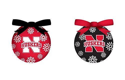 Nebraska Cornhuskers Official NCAA LED Box Set Ornaments by Evergreen Enterprises