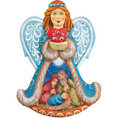 G. Debrekht Holy Night Angel Ornament, 5″