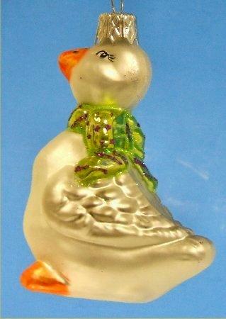 Goose German Glass Christmas Tree Ornament