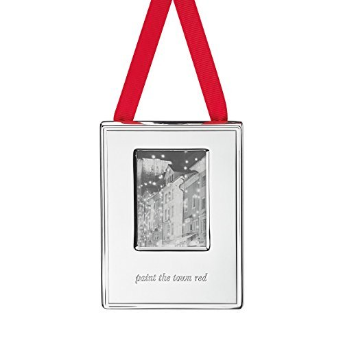 Kate Spade New York Silver Street Paint the Town Red Ornament Frame by kate spade new york