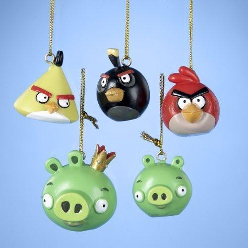 Angry Birds 5-Piece 1.75-Inch Kurt Adler Resin Ornaments Set, Mini
