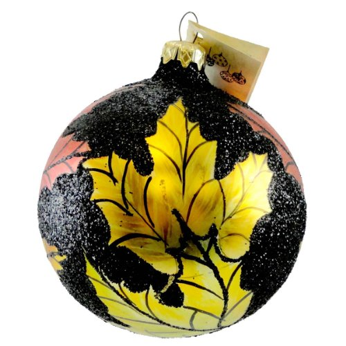 Christina's World AUTUMN AWAKENING Glass Ornament Ball Fall Leaves Gar890