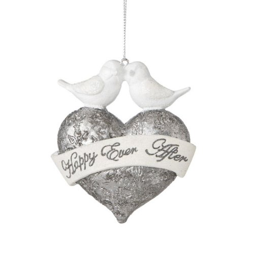 "Midwest-CBK ""Happily Ever After"" Heart Ornament (461716)"