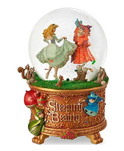 Disney Store~ the Art of Aurora 2014 Sleeping Beauty Musical Snowglobe