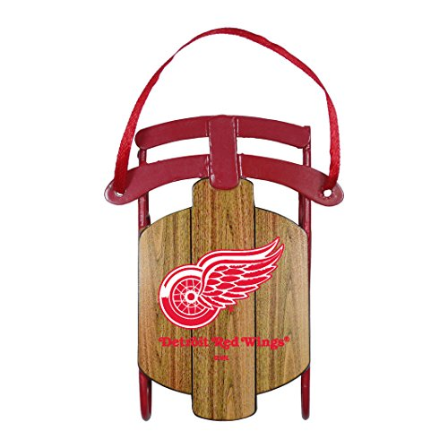 NHL Detroit Red Wings Metal Sled Ornament