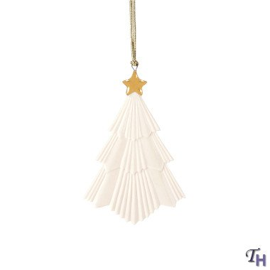 Lenox Pleated Tree Ornament