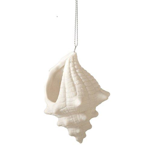 Porcelain Conch Shell Ornament