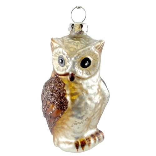 Holiday Ornament WOODLAND CRITTER Glass Bethany Lowe Owl Ornament LG1691 OWL