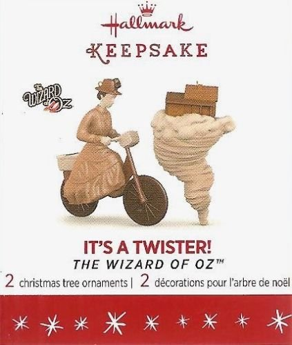 2016 Hallmark Keepsake Ornament Limited Edition Mini Set of 2- It's A Twister- The Wizard of Oz