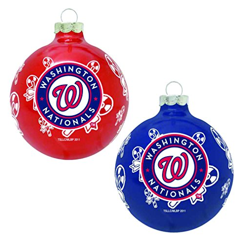 MLB Washington Nationals Home and Away Ornament Set