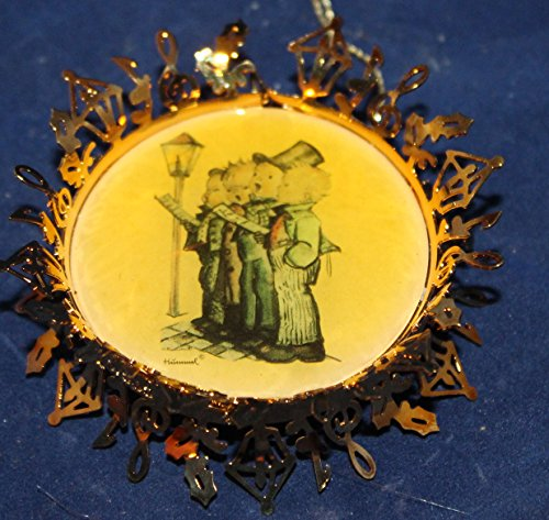Hummel Gold Christmas Ornament Collection – The Quartet Featuring Four Boys Singing by a Lampost