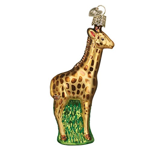 Old World Christmas Baby Giraffe Glass Blown Ornament