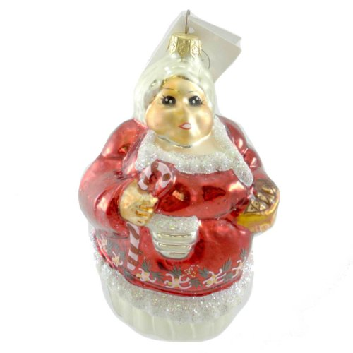 Christopher Radko THE CLAUSSES Blown Glass Ornament Santa Mrs Claus