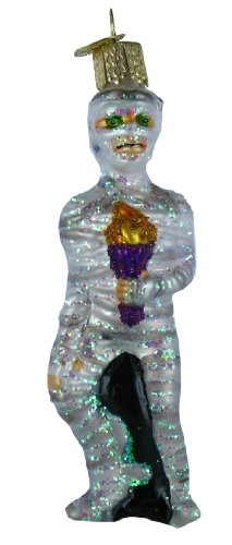 Old World Christmas Menacing Mummy Glass Blown Ornament