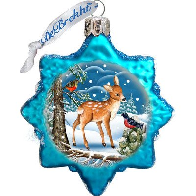 G. Debrekht Santa's Forest Friends Glass Ornament