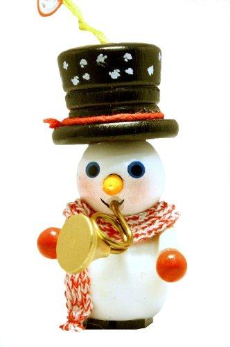 2013 Steinbach Trumpet Player Snowman German Wooden Christmas Ornament