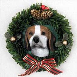 Beagle Wreath Ornament