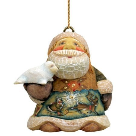 G.Debrekht 651844 General Holiday North Pole Santa Ornament 3 in.