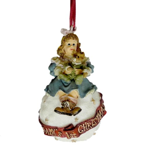 Boyds Bears Resin AMY & SAM BABYS FIRST CHRISTMAS 25857 Ornament New
