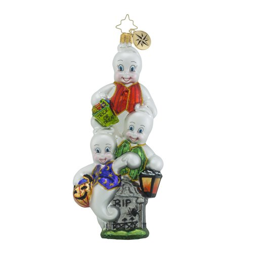 Christopher Radko Jack-n-Ghoul Halloween Ghost Christmas Ornament