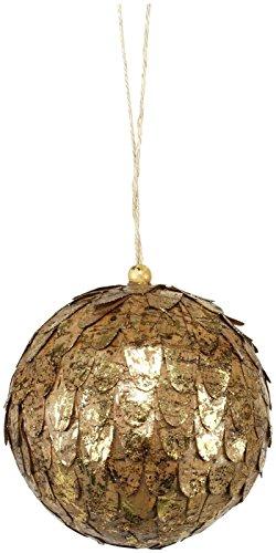 Sage & Co. Cork Petal Ball Ornament