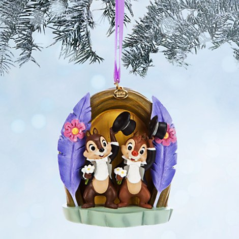 Disney Limited Edition Chip 'N Dale Sketchbook Christmas Ornament – Two Chips and a Miss