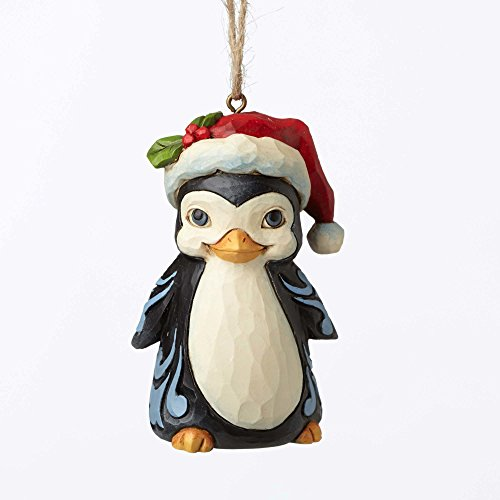 Jim Shore Heartwood Creek Christmas Penguin with Santa Hat Mini Ornament 4053850