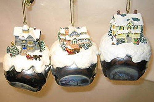 Thomas Kinkade Sleigh Bells Ornaments Set 7, 3 Bells