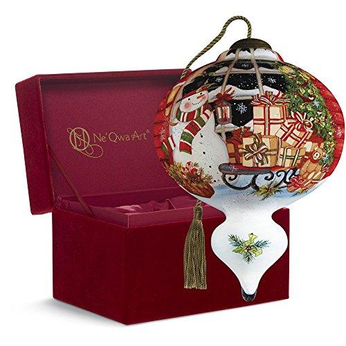 Ne'Qwa Art Christmas Gift, Susan Winget A Sleigh Full of Presents, Glass, 7161124