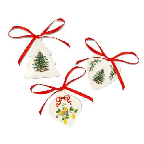 Spode Christmas Tree Ornaments, Set of 3