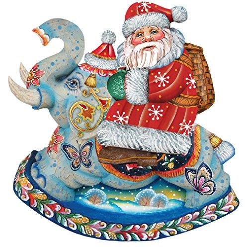 G. Debrekht Santa On Elephant Deco Ornament