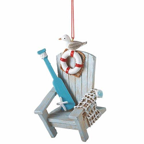 Coastal Adirondack Chair Ornament