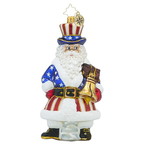 Christopher Radko Tis of Thee Santa Claus Patriot Christmas Ornament