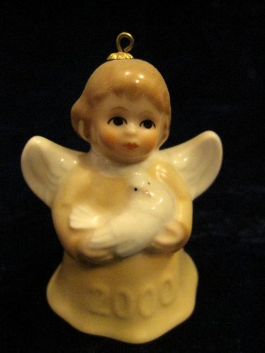 2000 Annual Dated Goebel Angel Bell Ornament – Yellow – 25th Edition
