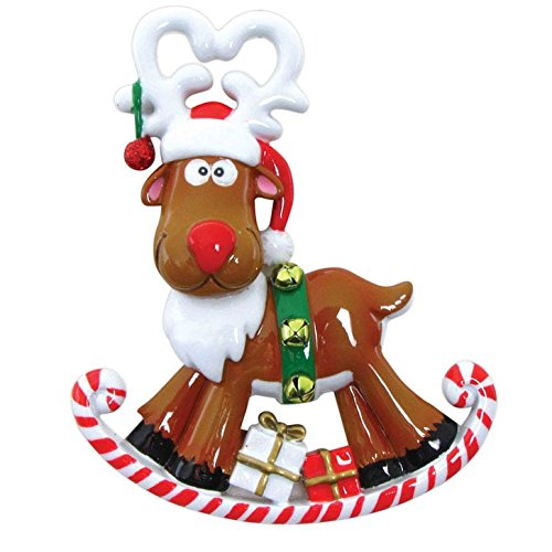 Reindeer Rudolph Personalized Christmas Ornament
