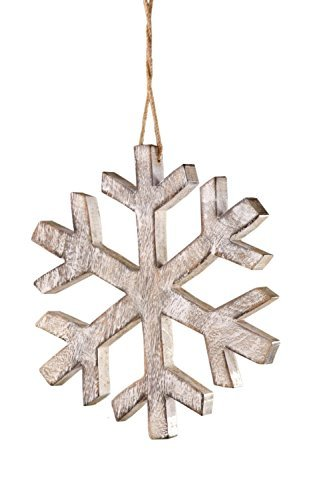 Sage & Co. XAO14543GR Wood Snowflake Ornament by Sage & Co.