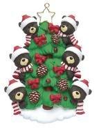 Bear Tree Family of 6 Ornament