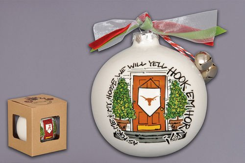 """As For Me And My House"" Holiday Ornament (Texas Longhorns)"