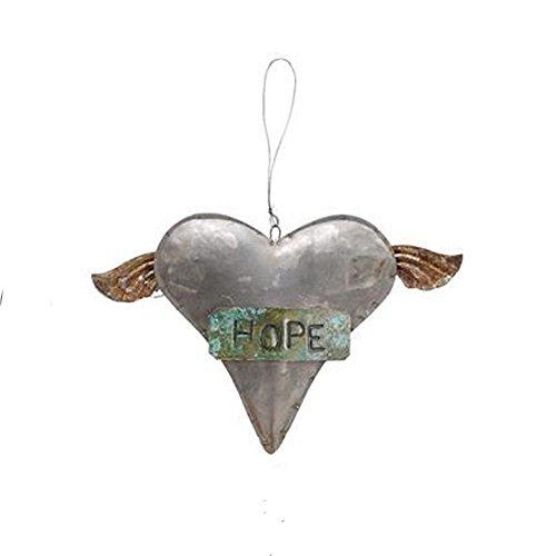 Creative Co-Op Tin Heart Ornament – Hope