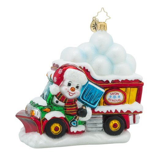 Christopher Radko Clearing the Way for Christmas Christmas Ornament