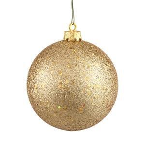 Vickerman 8″ Gold Sequin Ball Ornament