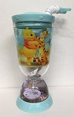Disney Winnie the Pooh Snowglobe Cups with Sippy Straw & Screw on Lid