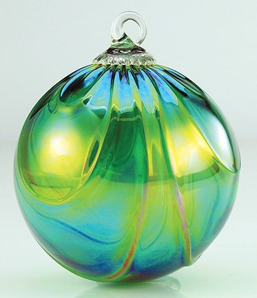 Glass Eye Studio Green Draped Classic Ornament