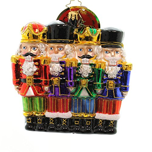 Christopher Radko All in a Row Nutcracker Christmas Ornament