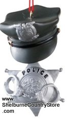 Midwest-CBK Profession Dangle Christmas Ornament, Police