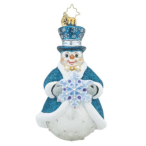 Christopher Radko Sir Cerulean Snowman Christmas Ornament