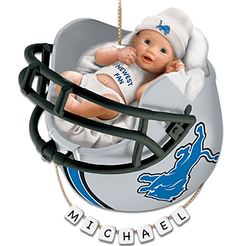 NFL Detroit Lions Personalized Baby's First Christmas Ornament by The Bradford Exchange