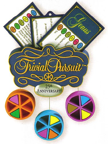 Carlton Heirloom Trivial Pursuit 25th Anniversary Christmas Ornament #CXOR-124R