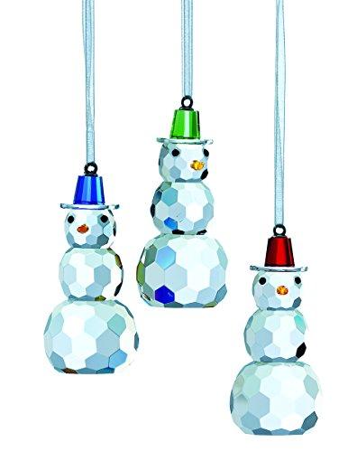 Belleek Magical Snowman Hanging Ornaments (3 Pack)
