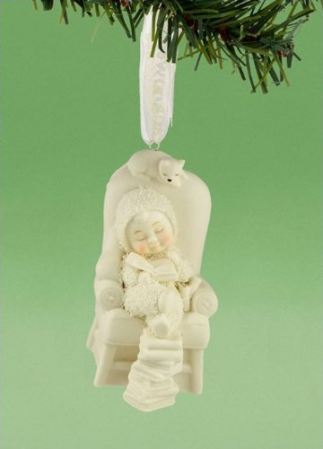 Snowbabies from Department 56 So Many Books Ornament